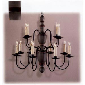 Grey and Cinnamon Mount Holly Wood Chandelier