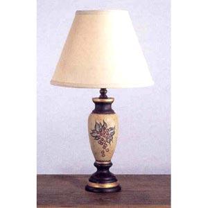 Vintage Grape Motif Table Lamp