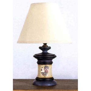 Chanticleer Rooster Motif Table Lamp