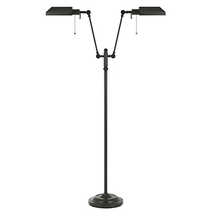 Pharmacy Dark Bronze 62-Inch Two-Light Pharmacy Floor Lamp