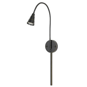 Gooseneck Dark Bronze LED Wall Sconce