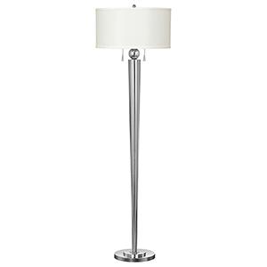 Messina Chrome Two-Light Floor Lamp