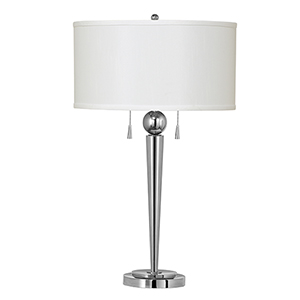 Messina Chrome Two-Light Table Lamp