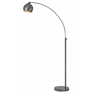 Antiqued Silver One-Light Arc Floor Lamp