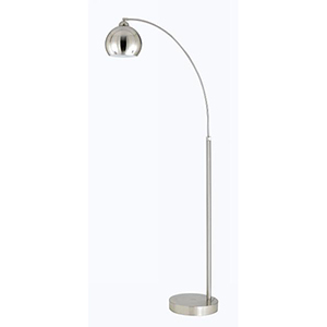 Arc Brushed Steel One-Light Arc Floor Lamp