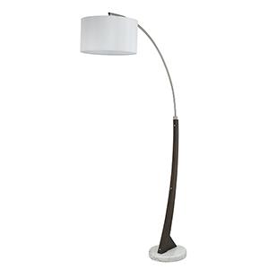Metal Arc Brushed steel One-Light Arc Floor Lamp