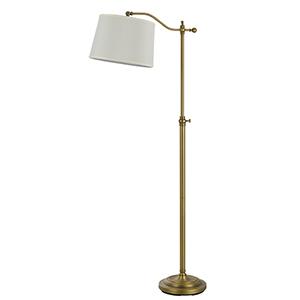 Wilmington Antique Brass One-Light Floor Lamp