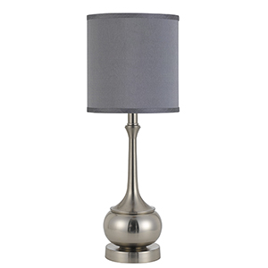 Tapron Brushed Steel One-Light Accent Lamp