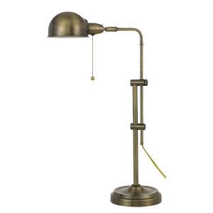 Pharmacy Antique Brass One-Light Desk lamp