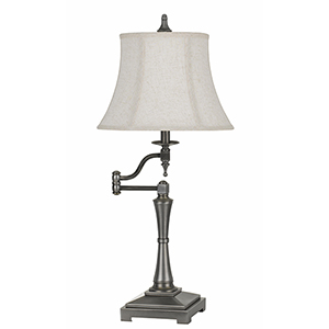 Madison Antiqued Silver One-Light Table Lamp