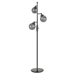 Prato Gun Metal Three-Light Floor Lamp