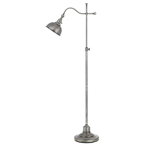 Portico Antiqued Pewter One-Light Floor Lamp