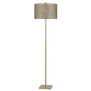 Falfurrias Warm Silver One-Light Floor Lamp