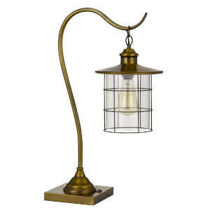Silverton Antique Brass One-Light Desk lamp