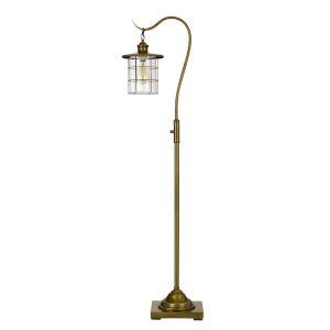 Silverton Antique Brass One-Light Floor Lamp