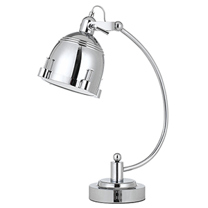 Hubble Chrome One-Light Desk Lamp