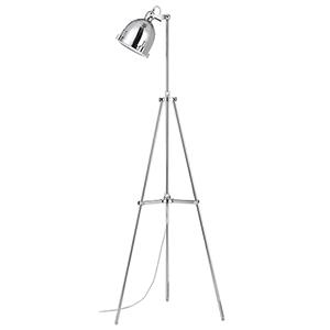 Hubble Chrome One-Light Floor Lamp