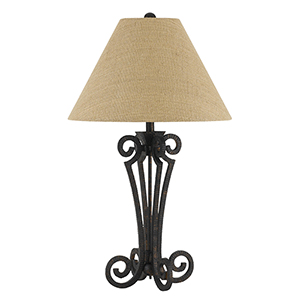 Blacksmith Matte Black One-Light Table Lamp