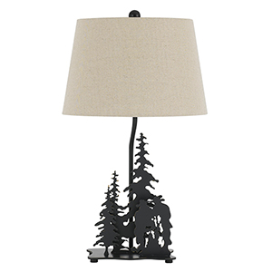 Cowboy Dark Bronze One-Light Table Lamp