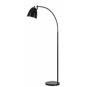 Garnett Dark Bronze One-Light Arc Floor Lamp