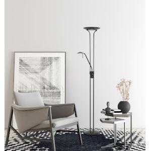 Pavia Dark Bronze Two-Light LED Floor Lamp