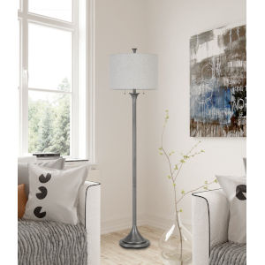 Cosenza Antique Silver Two-Light Floor Lamp