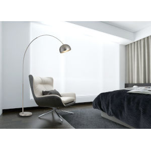 Ragusa Brushed Steel One-Light Floor Lamp