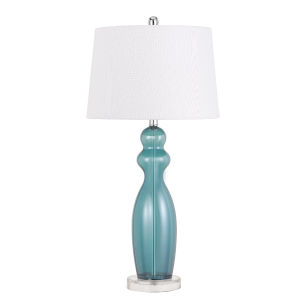 Bristol Aqua and White One-Light Table Lamp