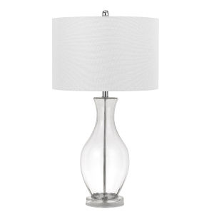 Skye Clear and Chrome One-Light Table Lamp