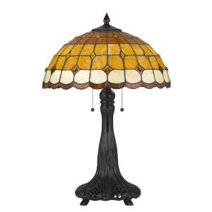 Tiffany Multicolor Two-Light Table Lamp