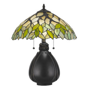 Tiffany Multicolor 16-Inch Two-Light Table Lamp