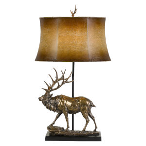 Lodge Antique Bronze One-Light Table Lamp