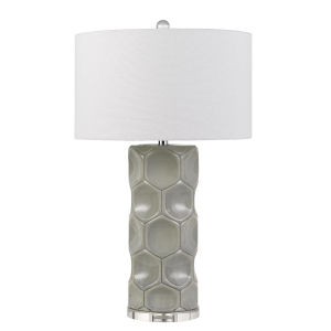 Melfi Gray and White One-Light Table Lamp