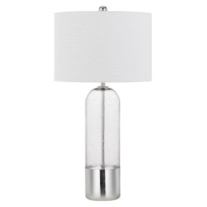 Anzio Clear and Chrome One-Light Table Lamp