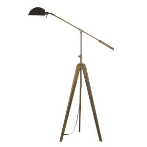 Cuero Antique Gold and Brass One-Light Floor lamp