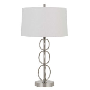Bree Chrome and White One-Light Table lamp