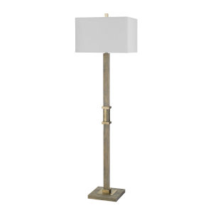 Tineo Natural and Antique Brass One-Light Floor lamp