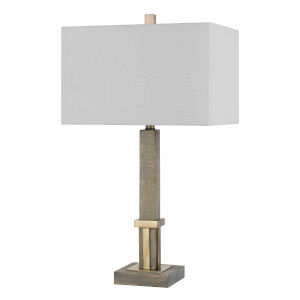 Tineo Natural and Antique Brass One-Light Table lamp