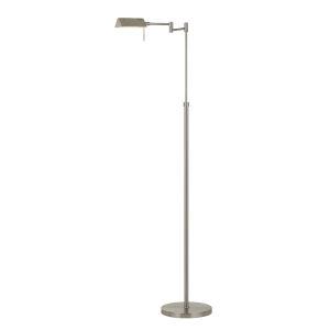 Clemson Brushed Steel Integrated LED Floor lamp