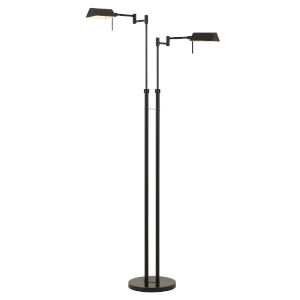Clemson Dark Bronze Two-Light Integrated LED Floor lamp