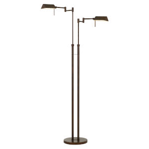 Clemson Rust Two-Light Integrated LED Floor lamp