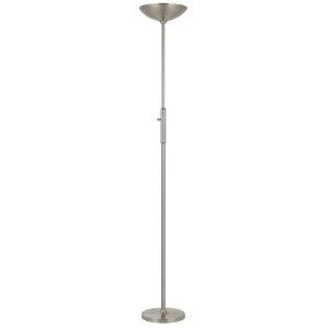 Alimos Brushed Steel Integrated LED Floor Lamp