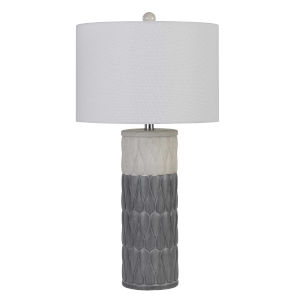 Voula Gray and White One-Light Table lamp