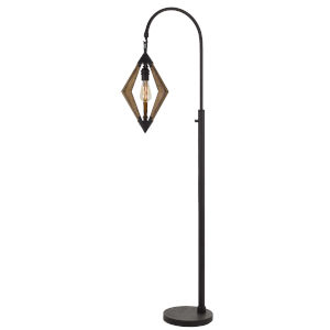 Valence Black and Natural One-Light Floor lamp