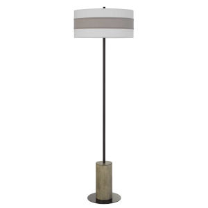 Jumilla Gray and Black One-Light Floor lamp