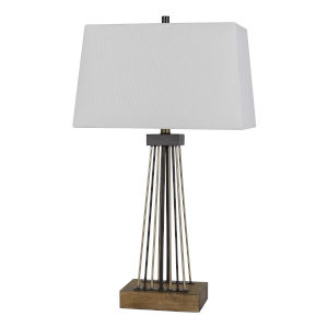 Basilica Bronze and Antique Brass One-Light Table lamp