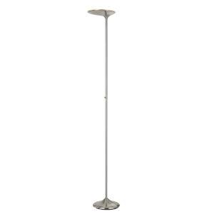 Foggia Brushed Steel LED Floor lamp