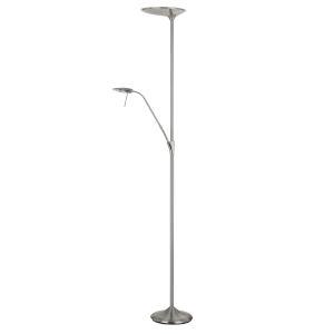 Treviso Brushed Steel Two-Light LED Floor lamp