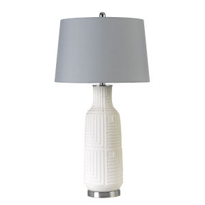 Fiumicino Gray and White One-Light Table lamp
