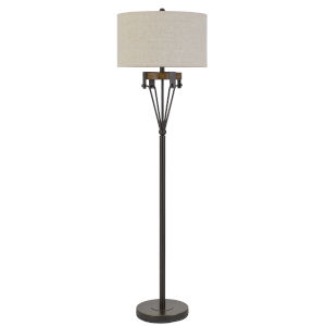 Kircaldy Black Iron One-Light Floor lamp